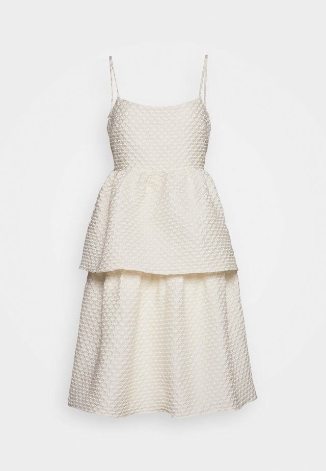 TIEREDWOW STRAPPY OPEN BACK DRESS - Juhlamekko - cream