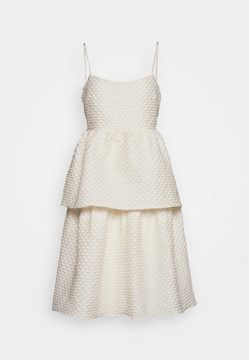 Glamorous Bloom - TIEREDWOW STRAPPY OPEN BACK DRESS - Sukienka koktajlowa - cream