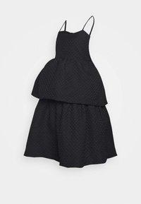 Glamorous Bloom - TIEREDWOW STRAPPY OPEN BACK DRESS - Vestito elegante - black - 0