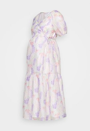 FLORAL WRAP DRESS - Vestido informal - lilac