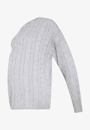 CABLE KNIT - Trui - grey