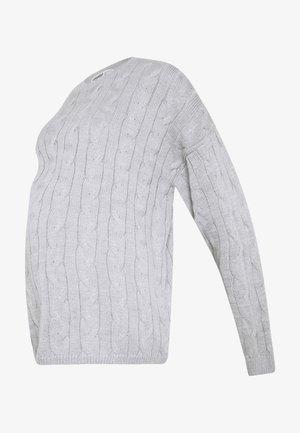 CABLE KNIT - Stickad tröja - grey