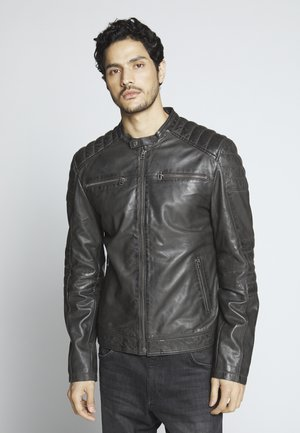 Leather jacket - caviar
