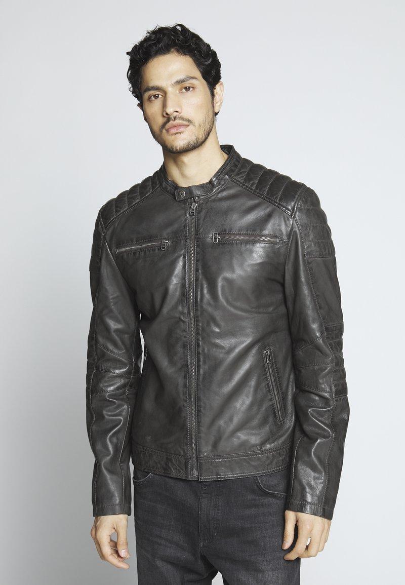 Goosecraft - Leather jacket - caviar