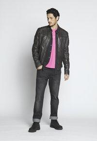 Goosecraft - Leather jacket - caviar - 1