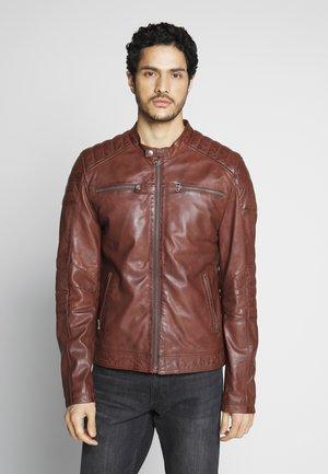 Veste en cuir - rodeo brown