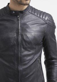 Goosecraft - BIKER - Leren jas - black - 4