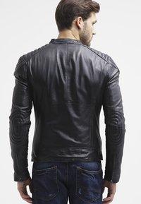 Goosecraft - BIKER - Leren jas - black - 2