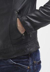 Goosecraft - BIKER - Leren jas - black - 6