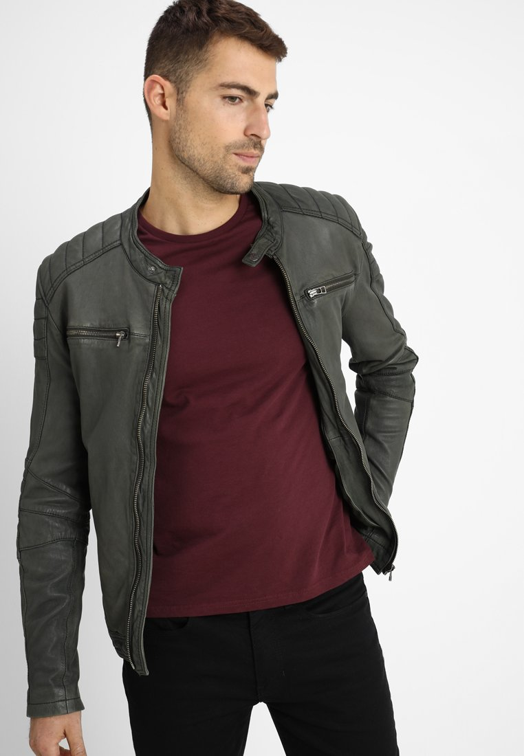 Goosecraft - JACKET - Leather jacket - military green