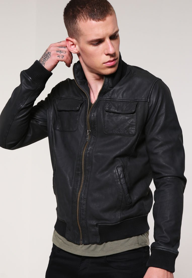 Goosecraft - Leather jacket - black