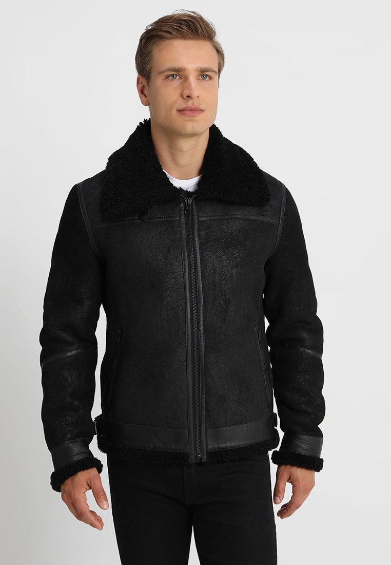Goosecraft - LAMMY - Leather jacket - black