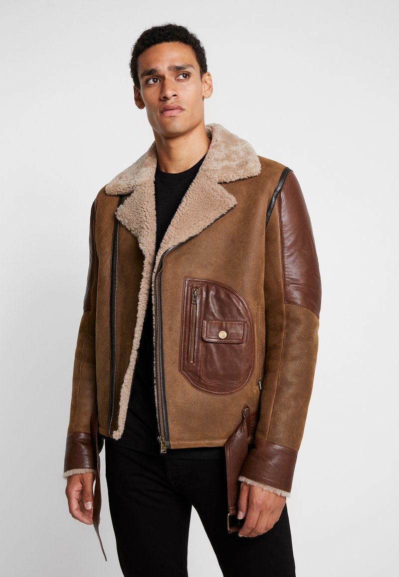 Goosecraft - ASTER LAMMY - Leather jacket - wood brown