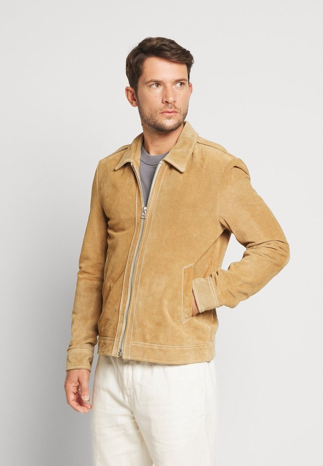 GCMANHATTAN JACKET - Leather jacket - desert sand