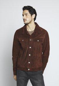 Goosecraft - MOJAVE DESERT - Veste en cuir - rodeo brown - 0