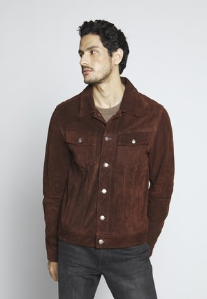 MOJAVE DESERT - Leather jacket - rodeo brown