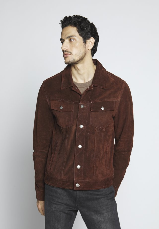 MOJAVE DESERT - Lederjacke - rodeo brown