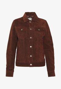 Goosecraft - MOJAVE DESERT - Veste en cuir - rodeo brown - 4
