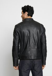 Goosecraft - BIRMIGHAM BIKER - Kožená bunda - black - 2