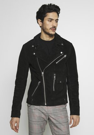 MAXIME BIKER - Leather jacket - black