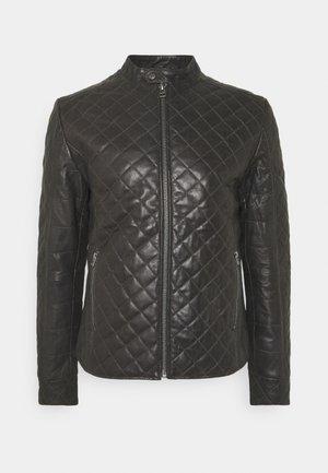 MERCURY BIKER - Leather jacket - caviar