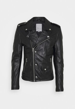 DAVID BIKER - Leather jacket - black