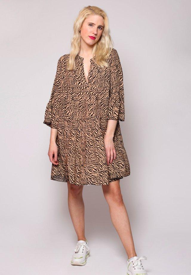 ZEBRA  - Korte jurk - black/brown