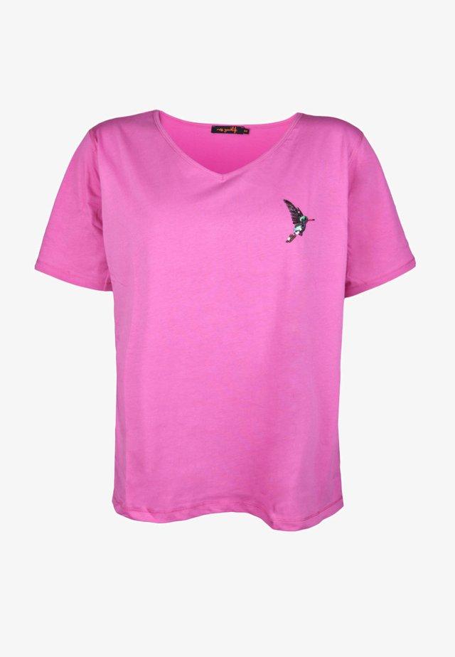 HUMMING-BIRD CACTUS - Print T-shirt - pink
