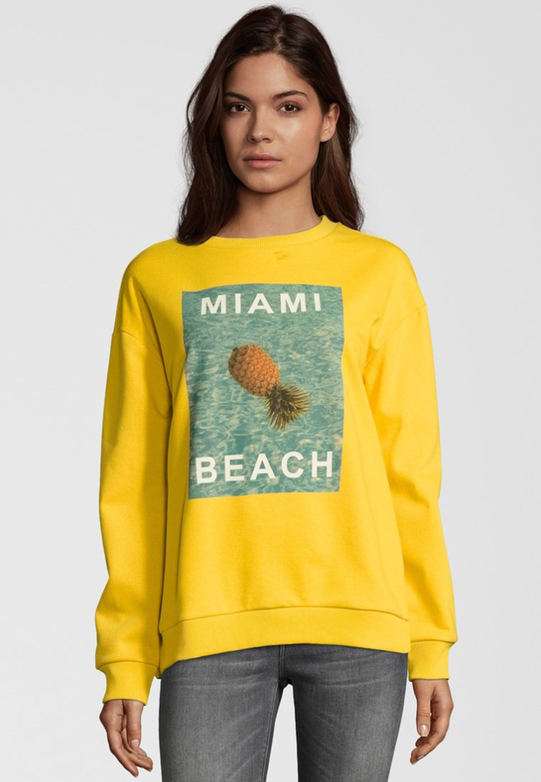 miss goodlife - MIAMI BEACH - Sweatshirt - yellow