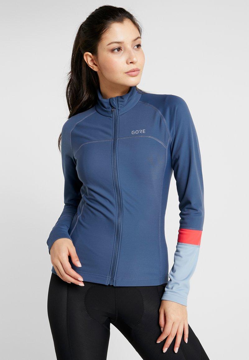 Gore Wear - THERMO TRIKOT - Fleece jacket - deep water blue/cloudy blue
