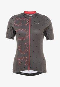 Gore Wear - T-Shirt print - terra grey/hibiscus pink - 7