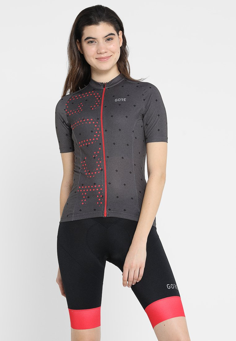 Gore Wear - Camiseta estampada - terra grey/hibiscus pink