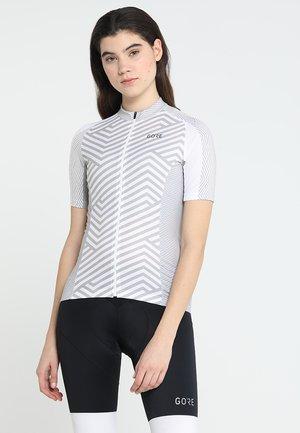 DAMEN TRIKOT - T-Shirt print - white/light grey