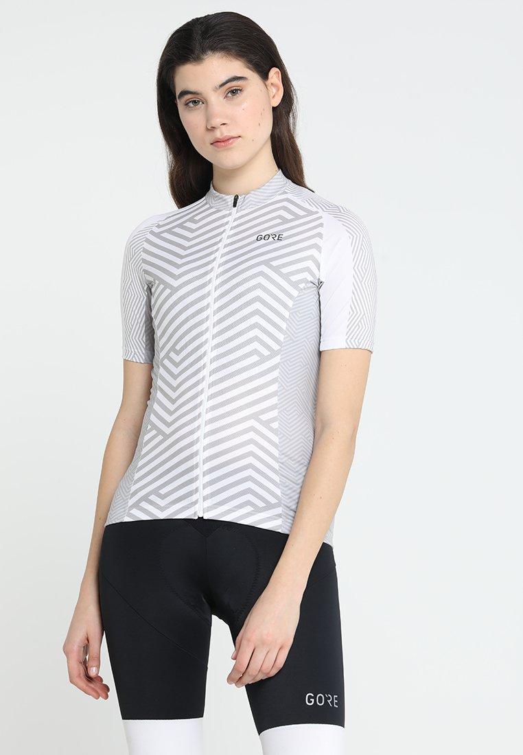 Gore Wear - DAMEN TRIKOT - T-Shirt print - white/light grey