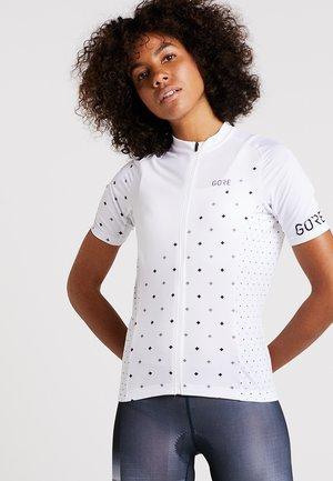 DAMEN TRIKOT - T-shirt z nadrukiem - white/black