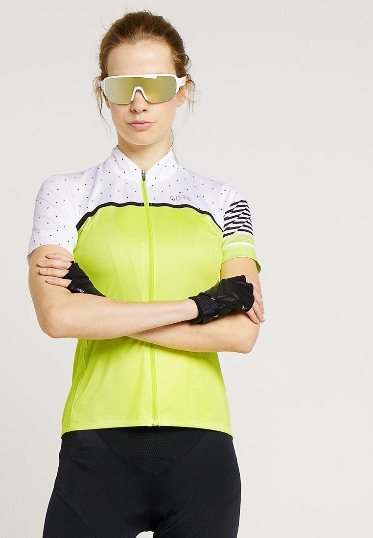 Gore Wear - TRIKOT - T-Shirt print - citrus green/white