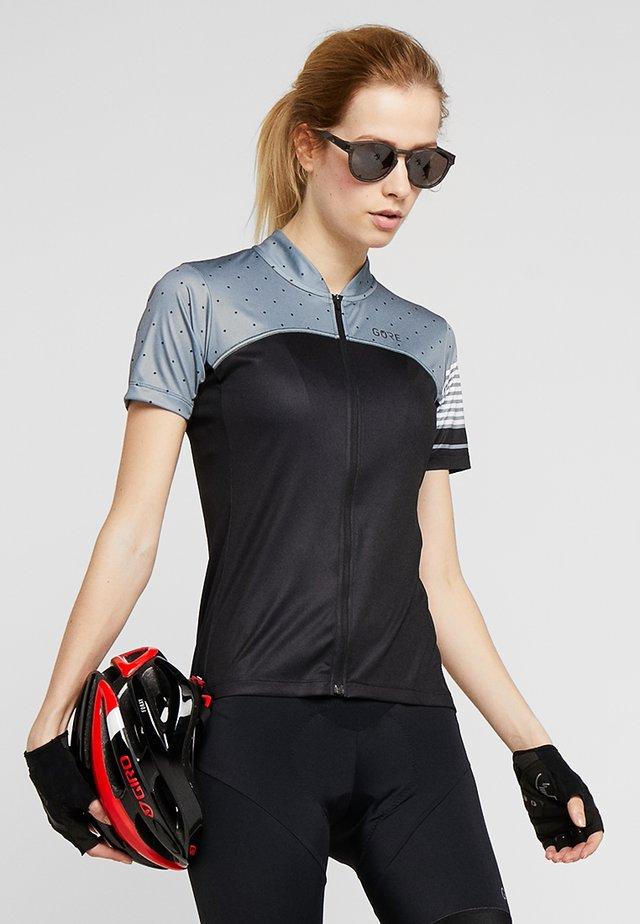 TRIKOT - T-shirt print - black/nordic blue