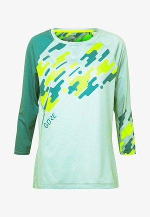 C5 DAMEN TRAIL TRIKOT - Sports shirt - nordic blue/citrus green