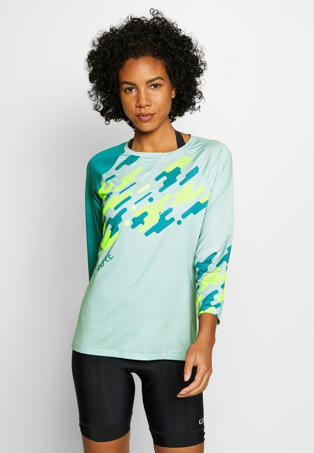 C5 DAMEN TRAIL TRIKOT - Sports shirt - nordic blue/citrus green