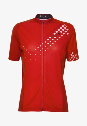 GORE® C3 DAMEN HEART TRIKOT - T-Shirt print - hibiscus pink/white