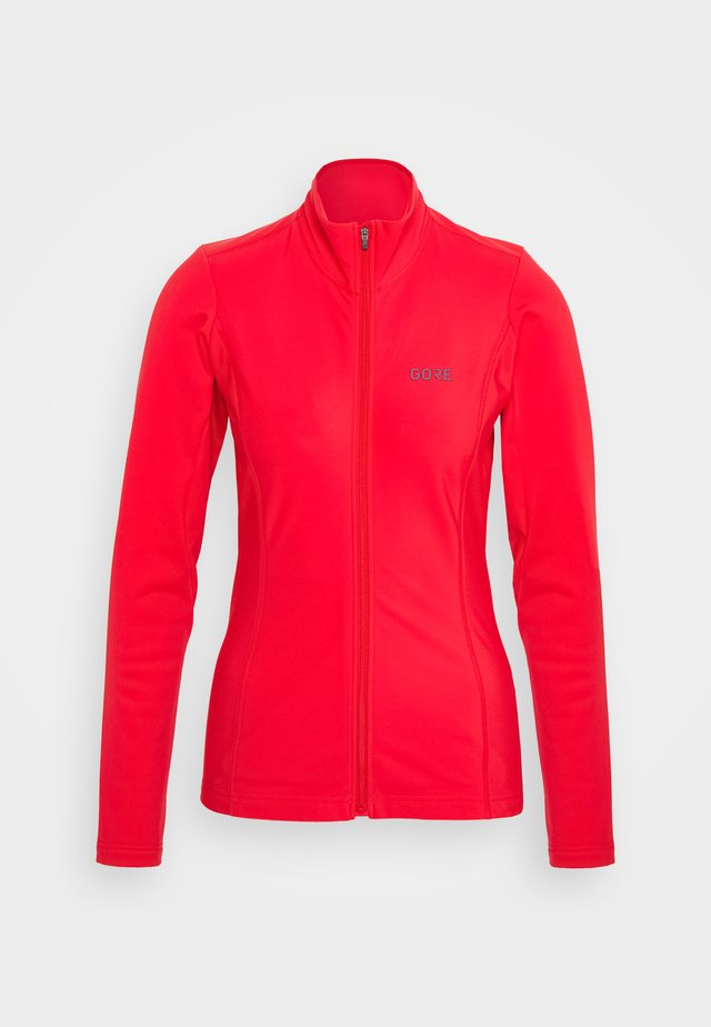 DAMEN THERMO TRIKOT - Giacca in pile - hibiscus pink