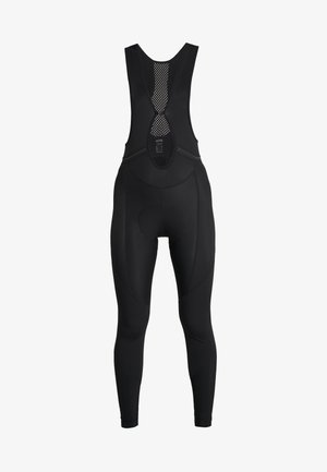 THERMO TRÄGERHOSE - Legginsy - black