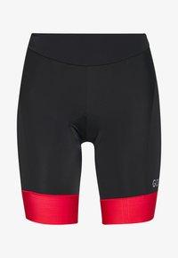 Gore Wear - DAMEN KURZ - Tights - black/hibiscus pink - 4