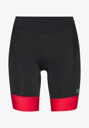 DAMEN KURZ - Leggings - black/hibiscus pink