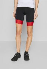 Gore Wear - DAMEN KURZ - Tights - black/hibiscus pink - 0