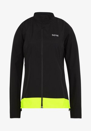 WINDSTOPPER® CLASSIC JACKE - Windbreakers - black/neon yellow