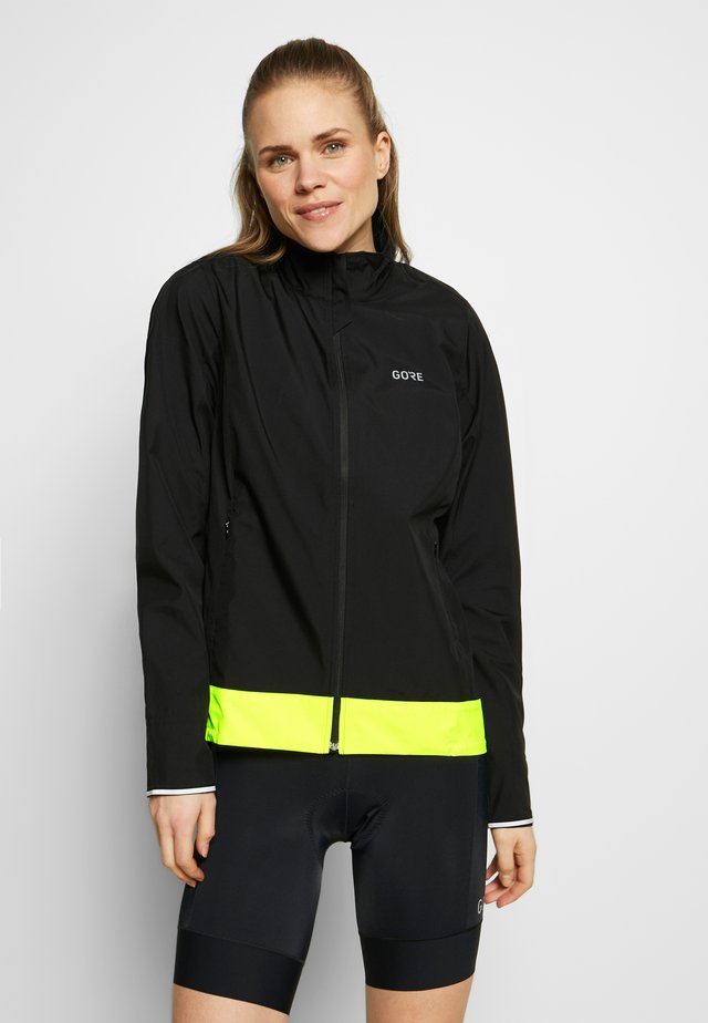 WINDSTOPPER® CLASSIC JACKE - Windbreaker - black/neon yellow