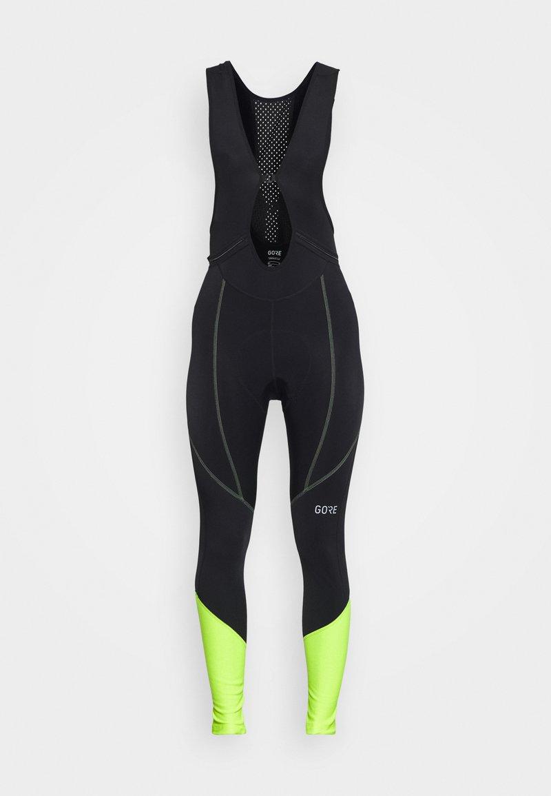 Gore Wear - GORE® C3 DAMEN THERMO - Tights - black/neon yellow