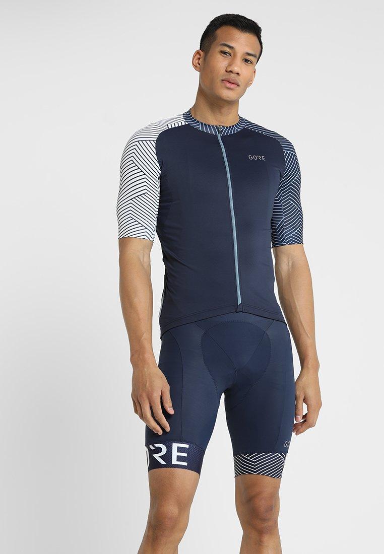 Gore Wear - TRIKOT - T-Shirt print - marine blue/white