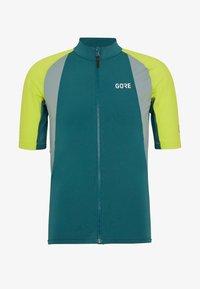 Gore Wear - PRO TRIKOT - Triko spotiskem - dark nordic blue/citrus green - 3